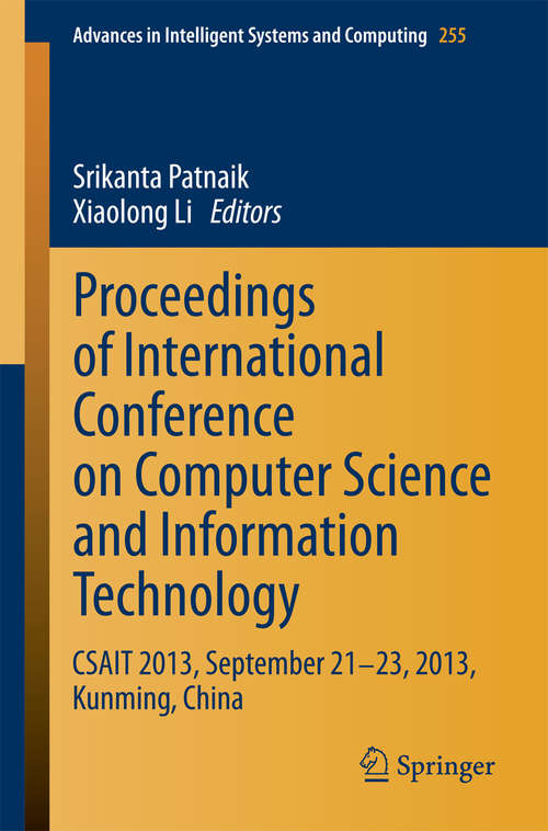 Proceedings of International Conference on Computer Science and Information Technology