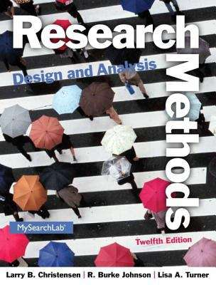 Research Methods, Design, and Analysis (Twelfth Edition)