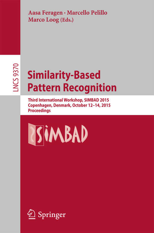 Similarity-Based Pattern Recognition
