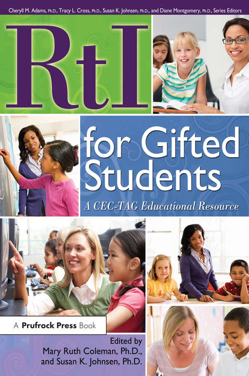 RtI for Gifted Students: A CEC-TAG Educational Resource