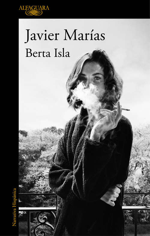Collection sample book cover Berta Isla de Javier Marias, una mujer fumando