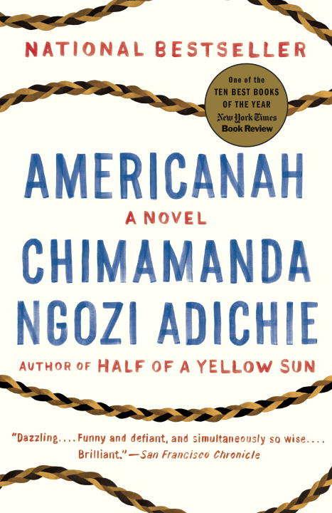 Collection sample book cover Americanah, Chimamanda Ngozi Adichie