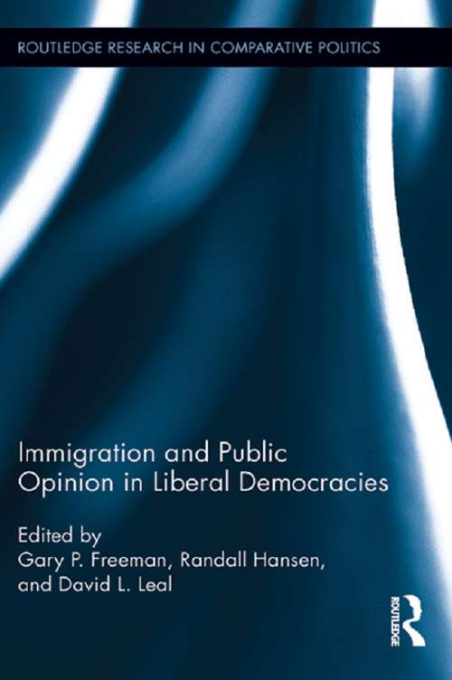 Immigration and Public Opinion in Liberal Democracies (Routledge Research in Comparative Politics)
