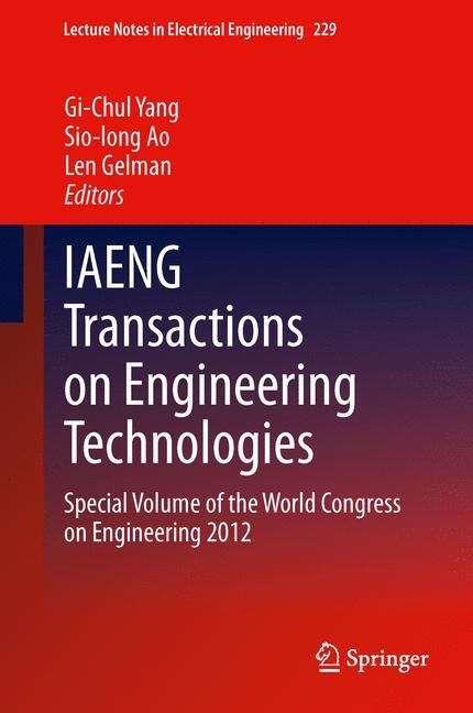 IAENG Transactions on Engineering Technologies