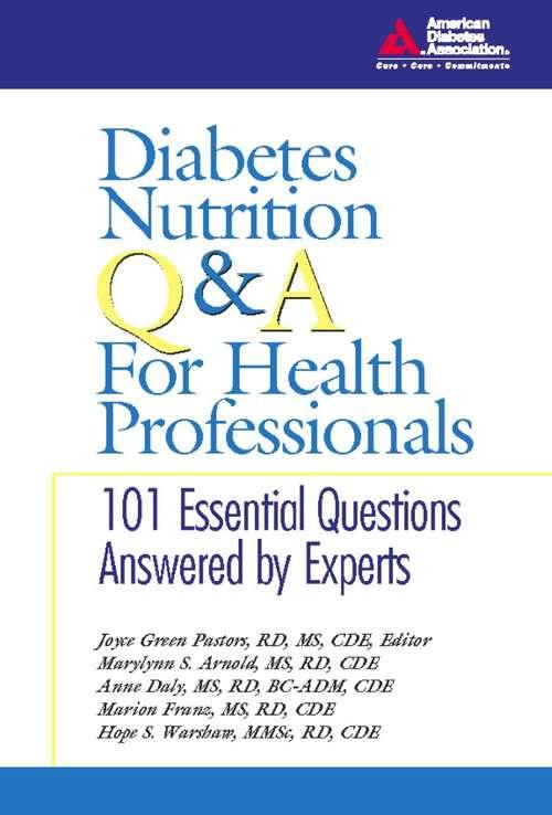 Diabetes Nutrition Q&A for Health Professionals