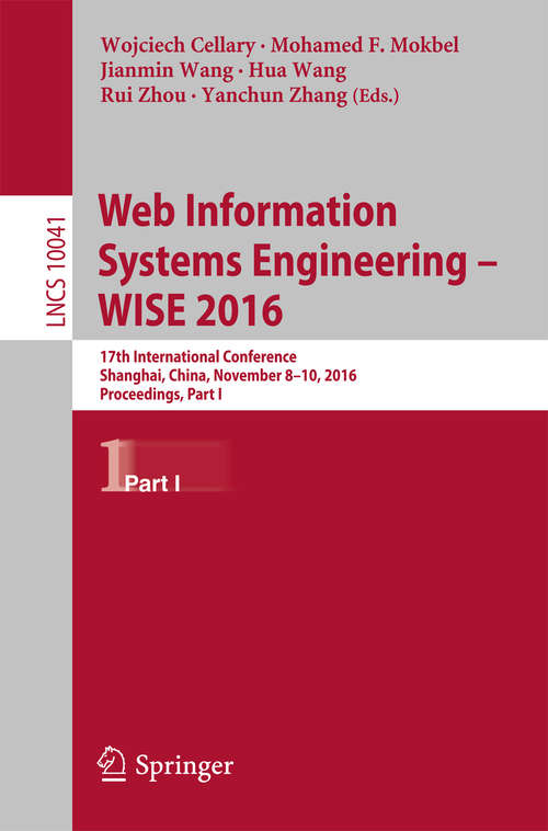 Web Information Systems Engineering – WISE 2016
