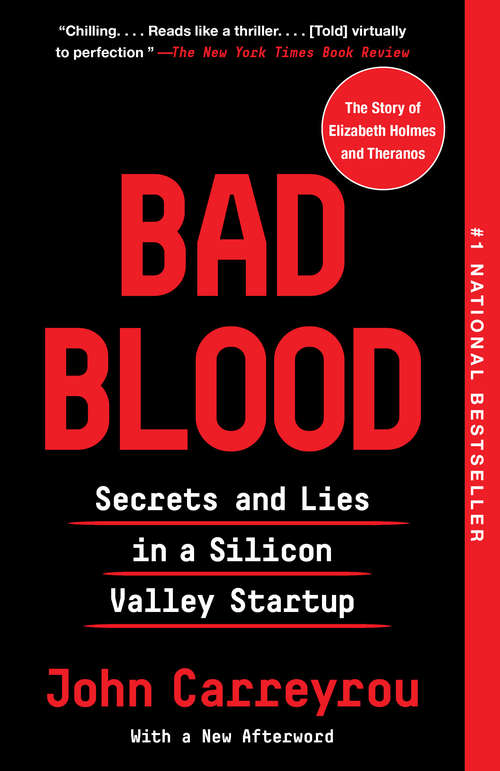 Collection sample book cover Bad Blood: Secrets and Lies in a Silicon Valley Startup by John Carreyrou
