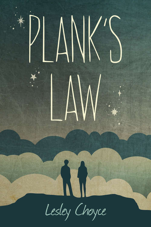 Collection sample book cover Plank's Law, two figures stand on a hill