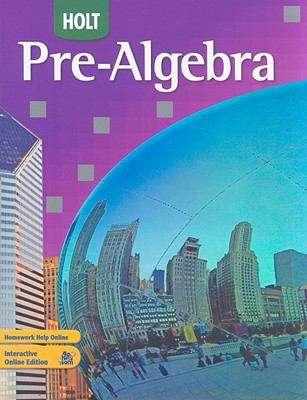 Holt Pre-Algebra (Holt Pre-algebra Ser.)