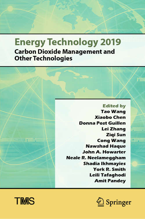 Energy Technology 2019: Carbon Dioxide Management and Other Technologies (The Minerals, Metals & Materials Series)