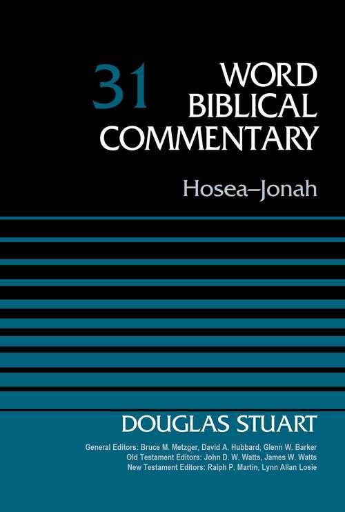Hosea-Jonah, Volume 31