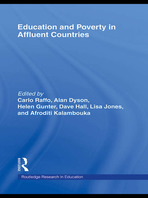 Education and Poverty in Affluent Countries (Routledge Research in Education)