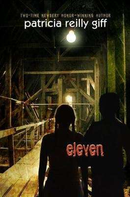 Collection sample book cover Eleven, two children stand in a dark warehouse