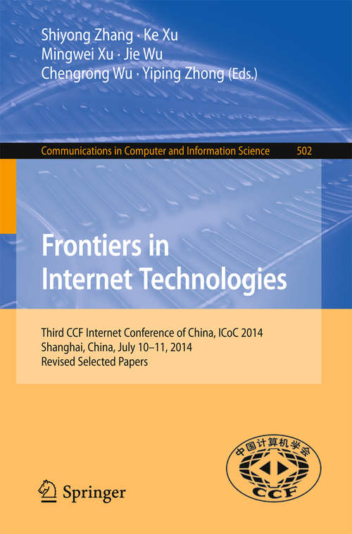Frontiers in Internet Technologies