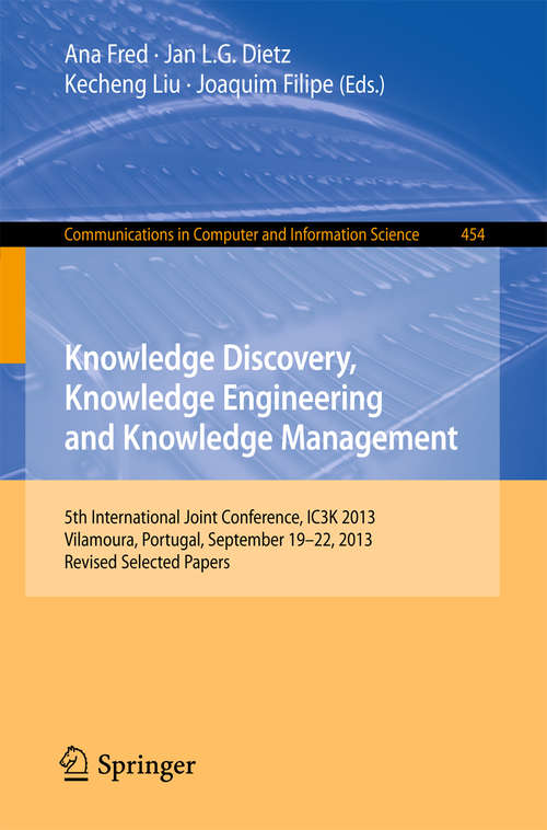 Knowledge Discovery, Knowledge Engineering and Knowledge Management