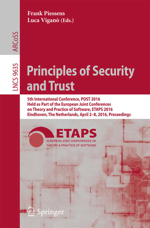 Principles of Security and Trust