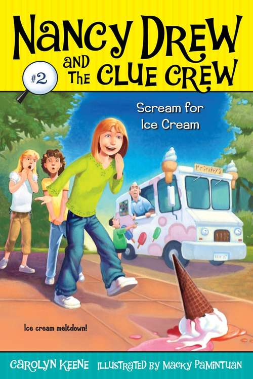 Collection sample book cover Scream for Ice Cream, girls horrified that a ice cream cone dropped on the ground