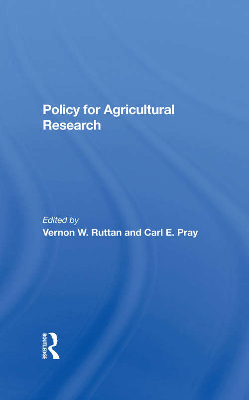 Policy For Agricultural Research