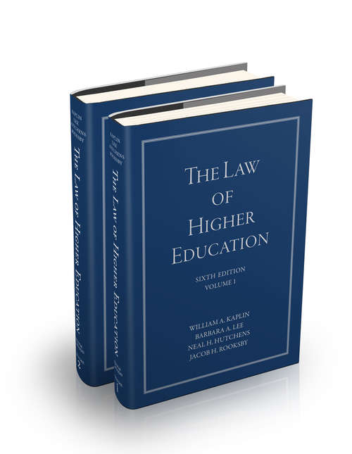 The Law of Higher Education: Student Version (The\jossey-bass Higher And Adult Education Ser.)