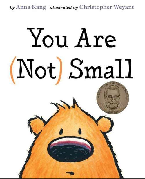 Collection sample book cover You Are (Not) Small, cartoon bear face