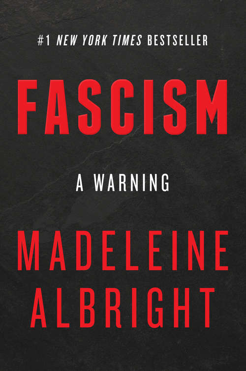 Collection sample book cover Facism: A Warning, red letters on a black background
