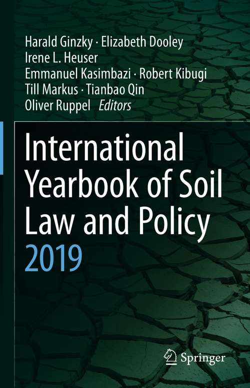 International Yearbook of Soil Law and Policy 2019 (International Yearbook of Soil Law and Policy #2019)
