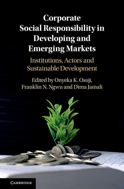 Corporate Social Responsibility in Developing and Emerging Markets: Institutions, Actors and Sustainable Development