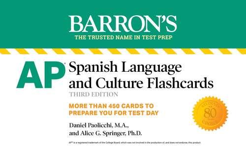 AP Spanish Language and Culture Flashcards (Barron's Test Prep)
