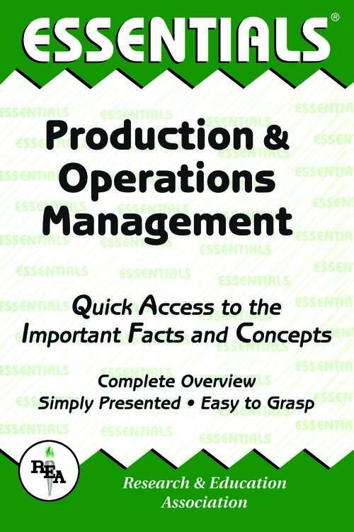 Production & Operations Management Essentials
