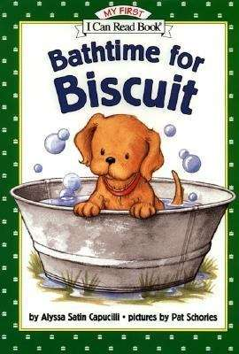 Collection sample book cover Bathtime for Biscuit, a puppy taking a bath