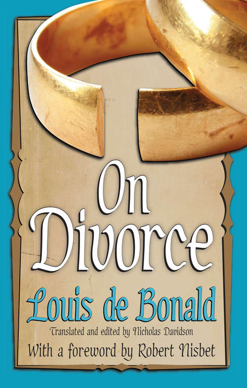 On Divorce (The\library Of Conservative Thought Ser.)