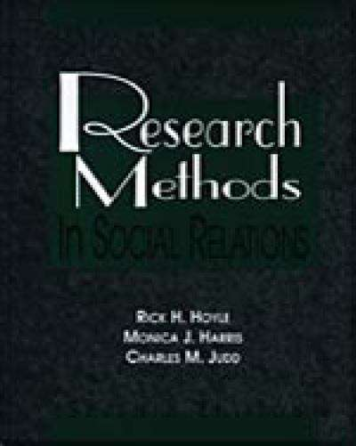Research Methods in Social Relations (7th edition)