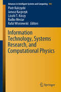 Information Technology, Systems Research, and Computational Physics (Advances in Intelligent Systems and Computing #945)