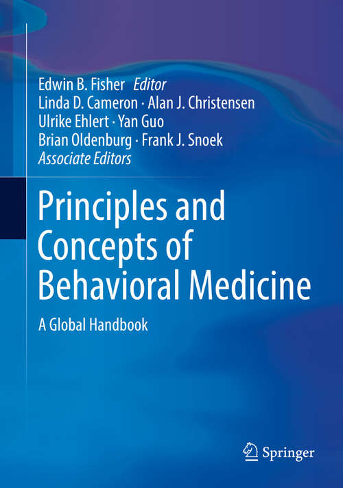 Principles and Concepts of Behavioral Medicine: A Global Handbook