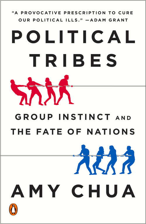 Collection sample book cover Political Tribes (Amy Chua), aerial view of a crowd of people forming the words