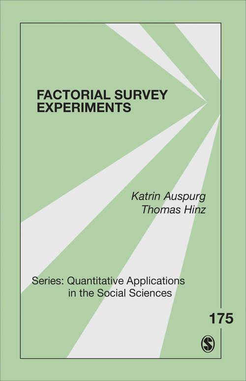 Factorial Survey Experiments