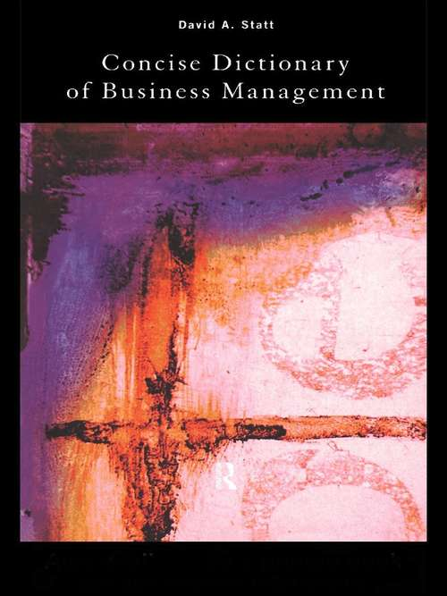 The Concise Dictionary of Business Management