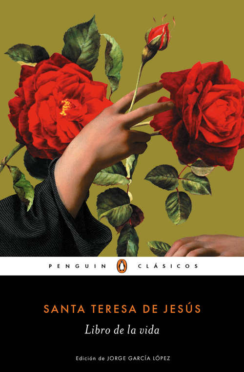 Collection sample book cover Libro de la vida de Santa Teresa de Ávila, una mano con una rosa
