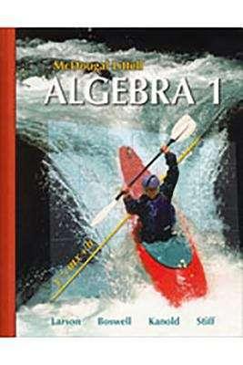 Algebra 1, Wisconsin, Student Edition
