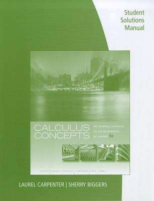 Calculus Concepts: An Informal Approach to the Mathematics of Change (Student Solutions Manual, 5th Edition)