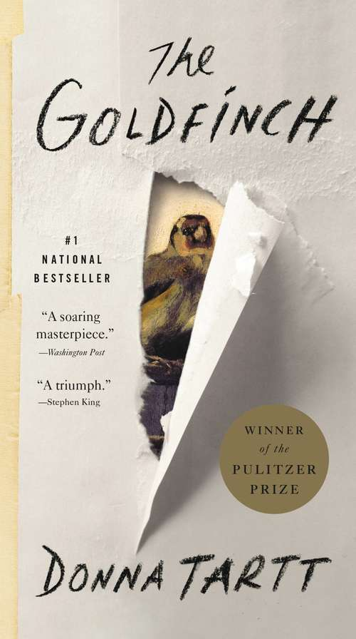 Collection sample book cover The Goldfinch by Donna Tartt