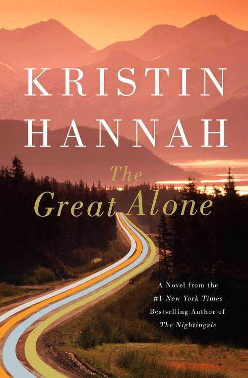 Collection sample book cover The Great Alone, aerial view of a highway at sunset