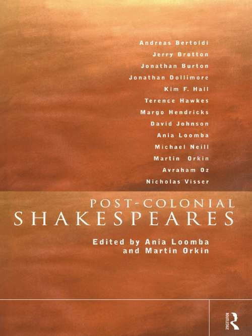 Post-Colonial Shakespeares (New Accents)
