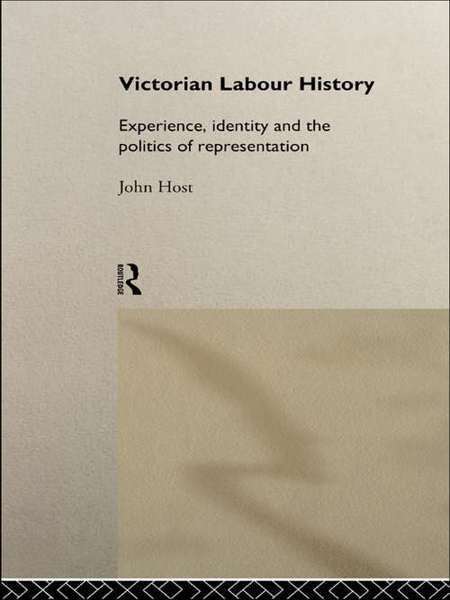 Victorian Labour History: Experience, Identity and the Politics of Representation