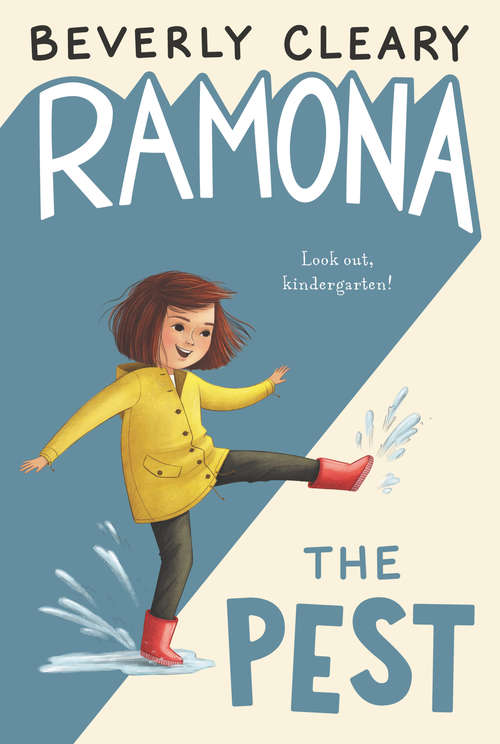 Collection sample book cover Ramona the Pest, young Ramona with her dog