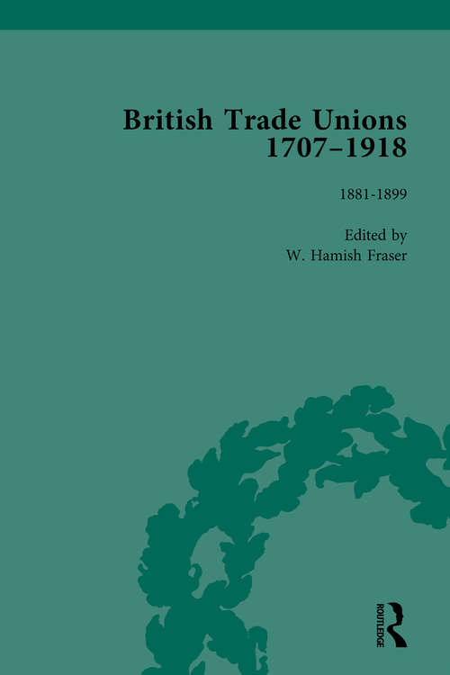 British Trade Unions, 1707-1918, Part II, Volume 6: 1880-1899