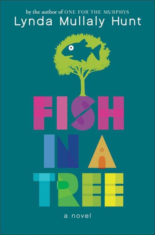 Collection sample book cover Fish in a Tree, illustration of tree with silhouette of fish in canopy