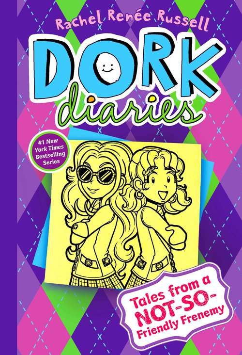 Collection sample book cover Tales from a Not-So-Friendly Frenemy (Dork Diaries 11), two children stand back to back