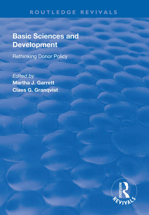 Basic Sciences and Development: Rethinking Donor Policy (Routledge Revivals)