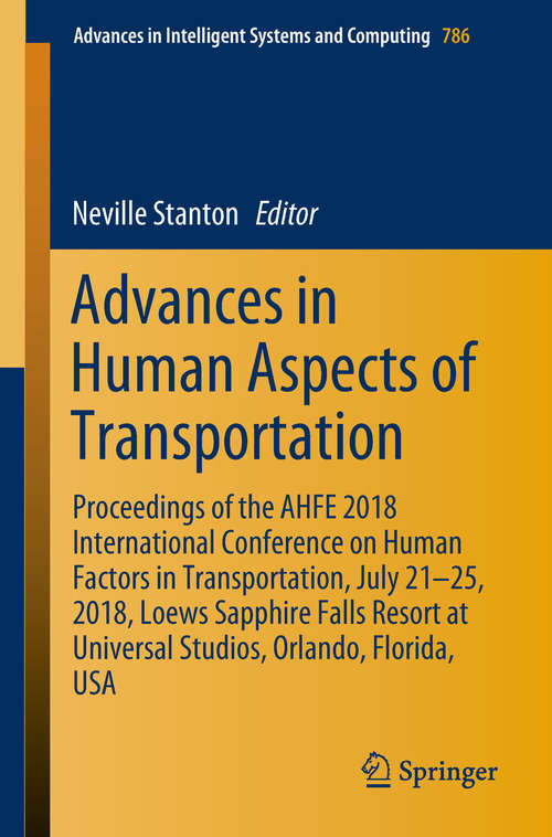 Advances in Human Aspects of Transportation   Bookshare